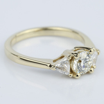 Trillion Three-Diamond Engagement Ring in Yellow Gold (0.72 ct.) - small angle 3