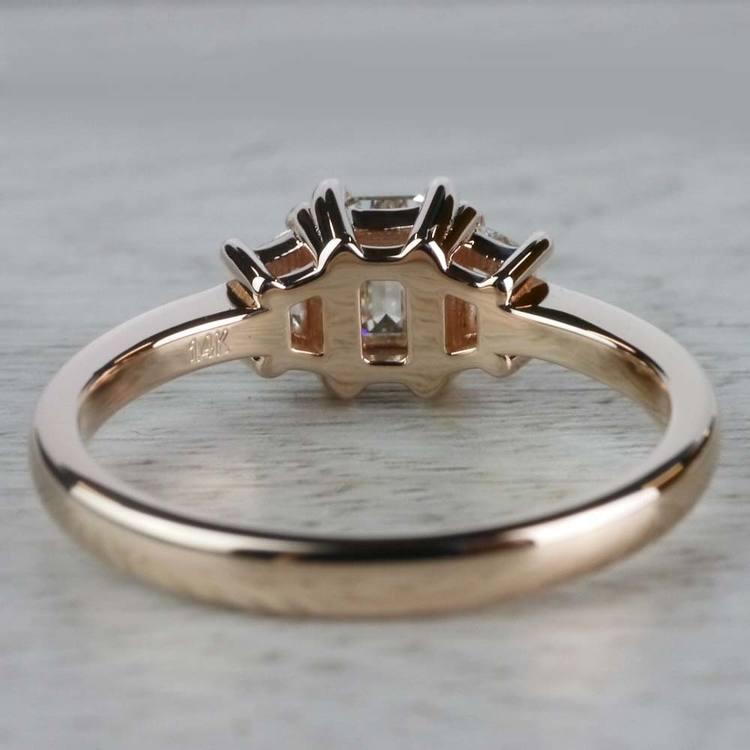 Splendid Regal Rose Gold Emerald Cut Diamond Ring angle 4