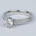 Tulip Pave Round Diamond Engagement Ring (0.75 ct.) - small angle 2