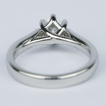 Tulip Pave Round Diamond Engagement Ring (0.75 ct.) - small angle 4