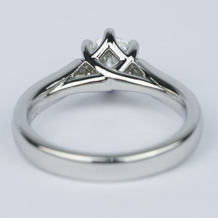 Tulip Pave Round Diamond Engagement Ring (0.75 ct.) angle 4