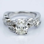 Twisted Petal 1.03 Carat Oval Diamond Engagement Ring - small