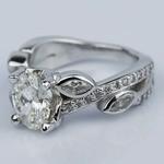 Twisted Petal 1.03 Carat Oval Diamond Engagement Ring - small angle 2