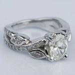 Twisted Petal 1.03 Carat Oval Diamond Engagement Ring - small angle 3