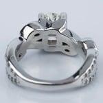 Twisted Petal 1.03 Carat Oval Diamond Engagement Ring - small angle 4