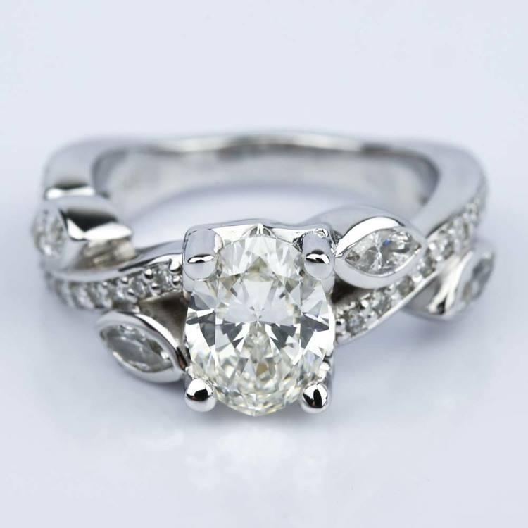 Twisted Petal 1.03 Carat Oval Diamond Engagement Ring