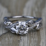 Twisted Petal 1.04 Carat Round Loose Diamond Engagement Ring - small