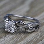 Twisted Petal 1.04 Carat Round Loose Diamond Engagement Ring - small angle 2