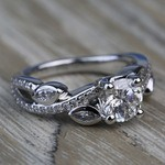 Twisted Petal 1.04 Carat Round Loose Diamond Engagement Ring - small angle 3