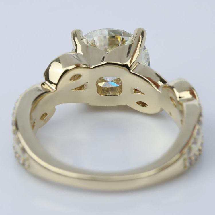 Twisted Petal Moissanite Ring (3.00 ct.) angle 4