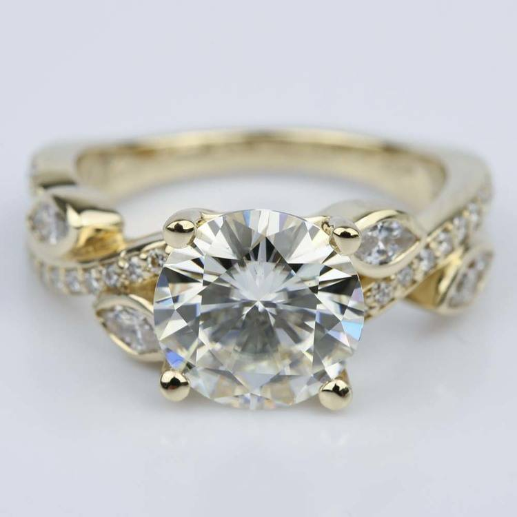 Twisted Petal Moissanite Ring (3.00 ct.)