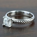 Twisted Rope 1.20 Carat Cushion Solitaire Diamond Engagement Ring - small angle 2