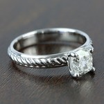 Twisted Rope 1.20 Carat Cushion Solitaire Diamond Engagement Ring - small angle 3