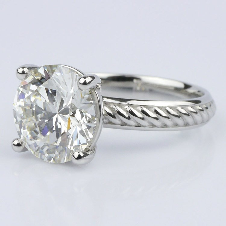Twisted Rope Comfort-Fit Engagement Ring (3.53 ct.) angle 2