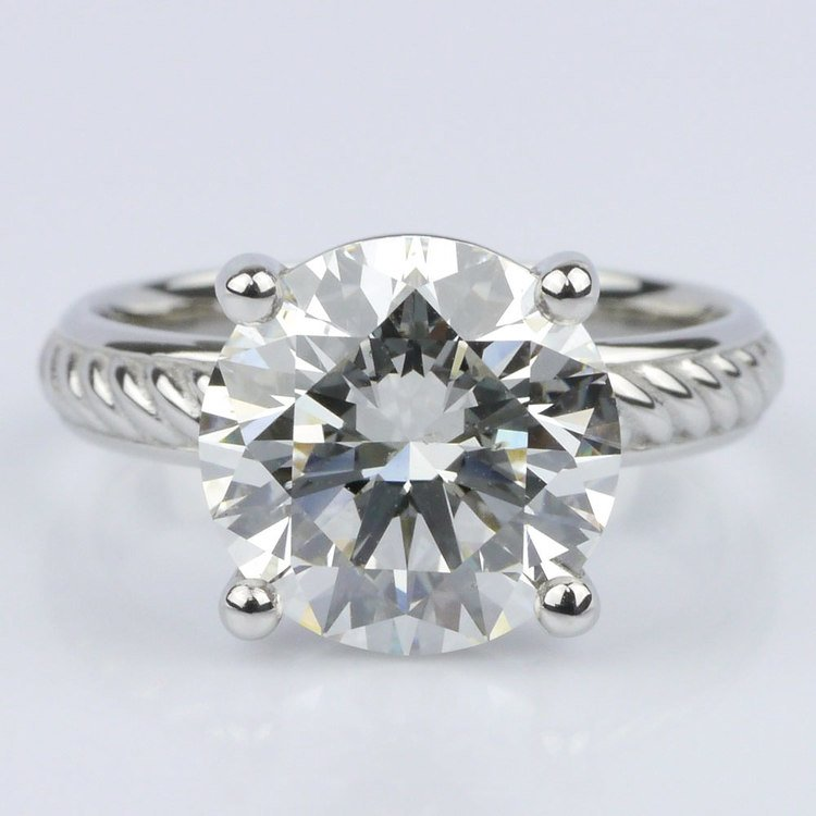 Twisted Rope Comfort-Fit Engagement Ring (3.53 ct.)
