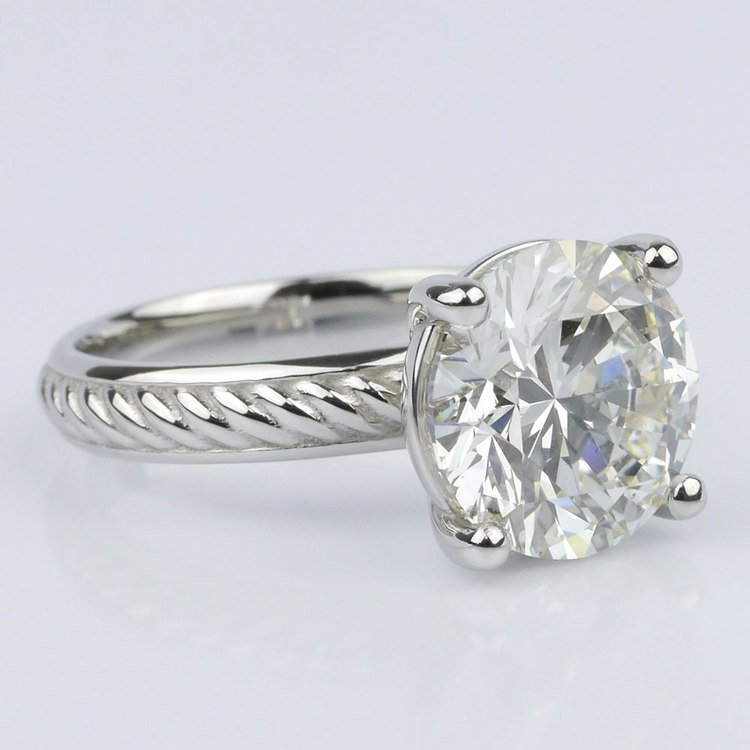 Twisted Rope Comfort-Fit Engagement Ring (3.53 ct.) angle 3