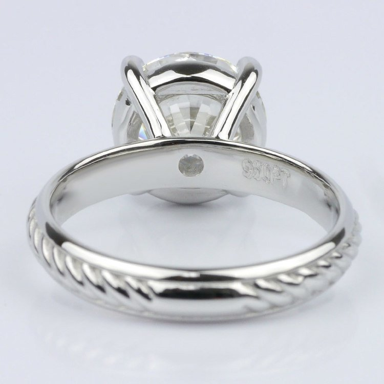 Twisted Rope Comfort-Fit Engagement Ring (3.53 ct.) angle 4