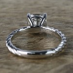 Twisted Rope Cushion Moissanite Engagement Ring - small angle 4