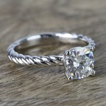 Twisted Rope Cushion Moissanite Engagement Ring - small angle 3