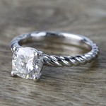 Twisted Rope Cushion Moissanite Engagement Ring - small angle 2