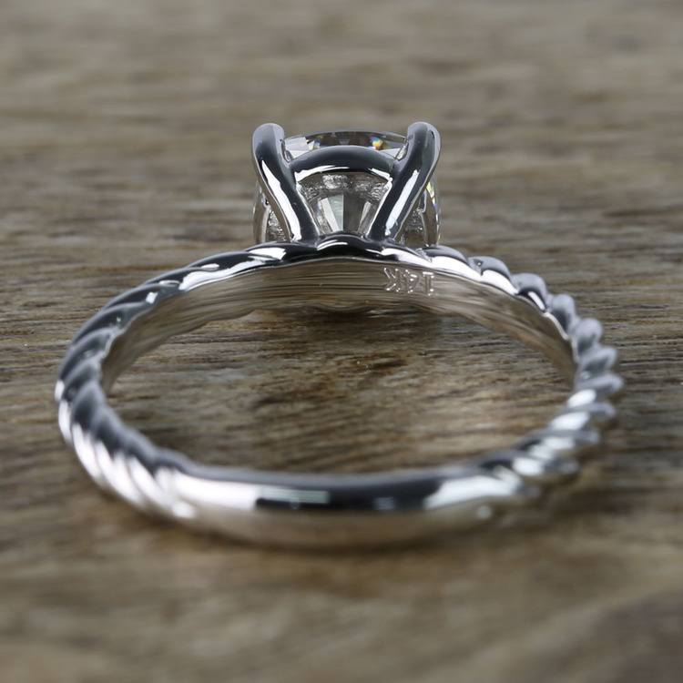 Twisted Rope Cushion Moissanite Engagement Ring angle 4