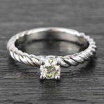 Twisted Rope Round Diamond Engagement Ring (0.31 Carat) - small