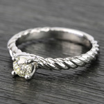 Twisted Rope Round Diamond Engagement Ring (0.31 Carat) - small angle 2