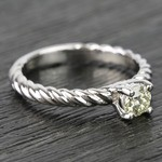 Twisted Rope Round Diamond Engagement Ring (0.31 Carat) - small angle 3