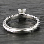 Twisted Rope Round Diamond Engagement Ring (0.31 Carat) - small angle 4