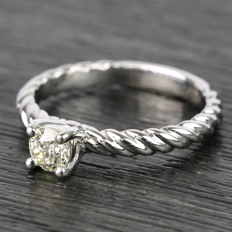 Twisted Rope Round Diamond Engagement Ring (0.31 Carat) angle 2