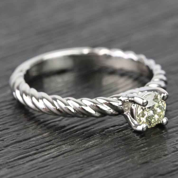 Twisted Rope Round Diamond Engagement Ring (0.31 Carat) angle 3