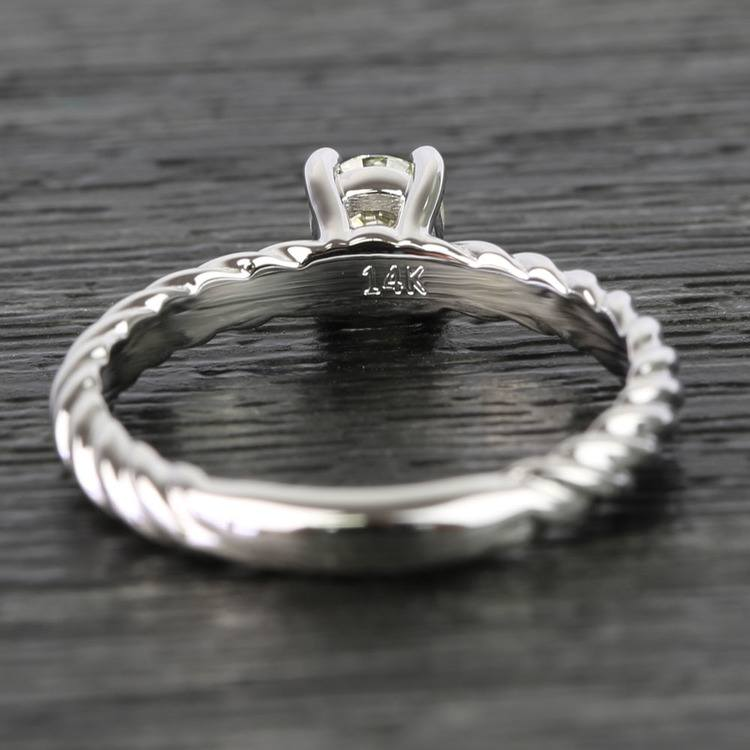 Twisted Rope Round Diamond Engagement Ring (0.31 Carat) angle 4