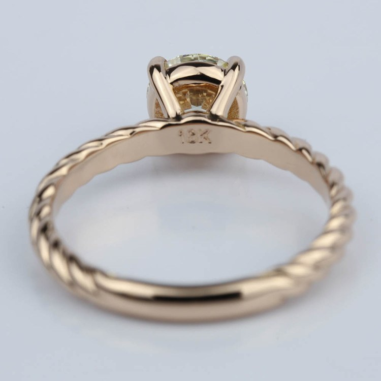 Twisted Rope Solitaire Diamond Engagement Ring (1.20 ct.) angle 4