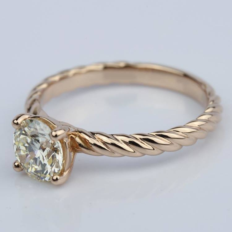 Twisted Rope Solitaire Diamond Engagement Ring (1.20 ct.) angle 2