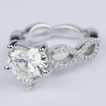Twisted Split Shank Engagement Ring with Heart Diamond (3 carat) - small angle 2