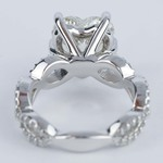 Twisted Split Shank Engagement Ring with Heart Diamond (3 carat) - small angle 4