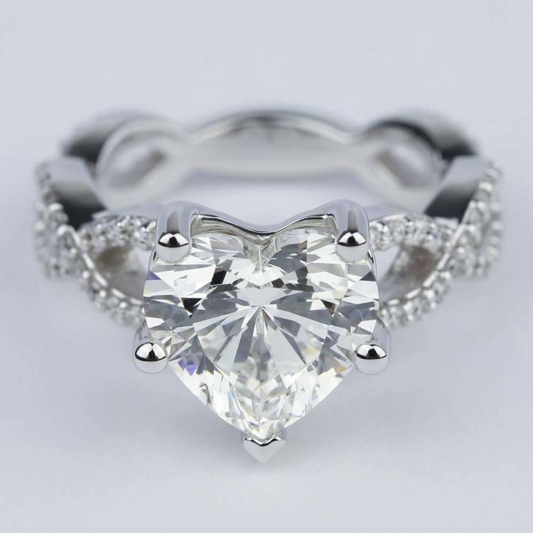 Carat Diamond Ring Heart