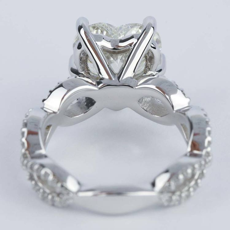 Twisted Split Shank Engagement Ring with Heart Diamond (3 carat) angle 4