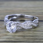 Twisted Split Shank Pave Diamond Engagement Ring (0.90 ct.) - small angle 2