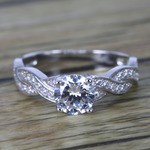Twisted Split Shank Pave Diamond Engagement Ring (0.90 ct.) - small