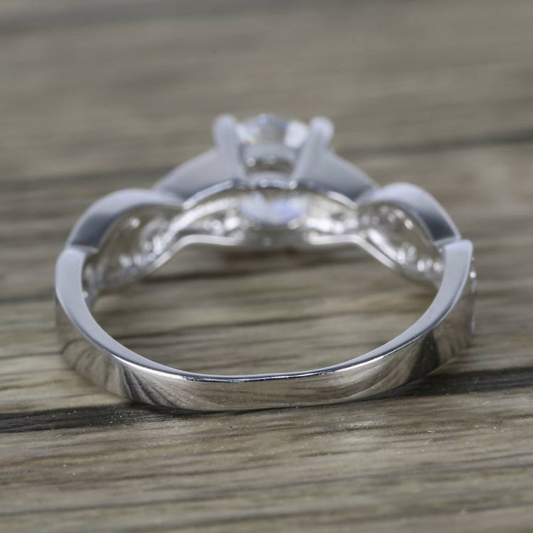 Twisted Split Shank Pave Diamond Engagement Ring (0.90 ct.) angle 4