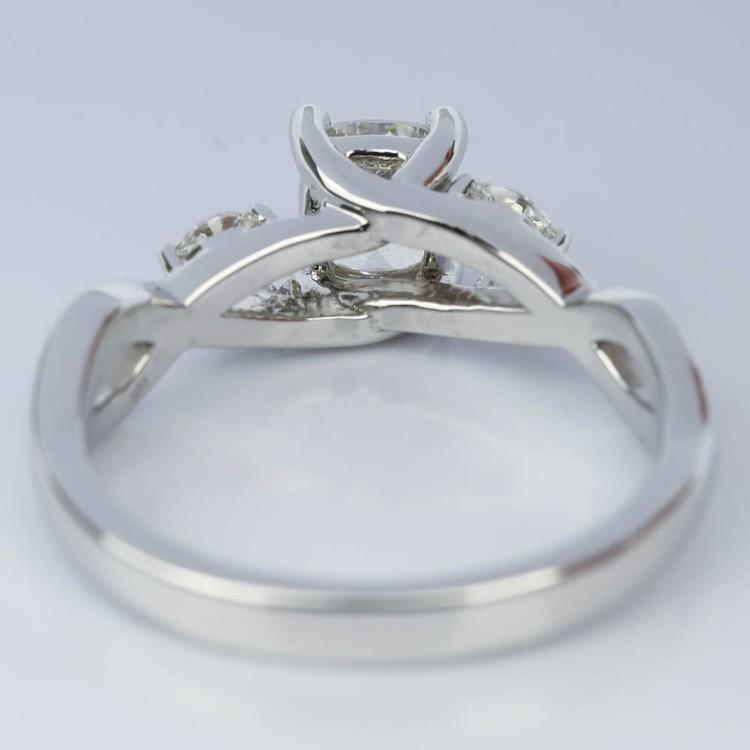Twisted Vine Cushion Diamond Engagement Ring (0.73 ct.) angle 4