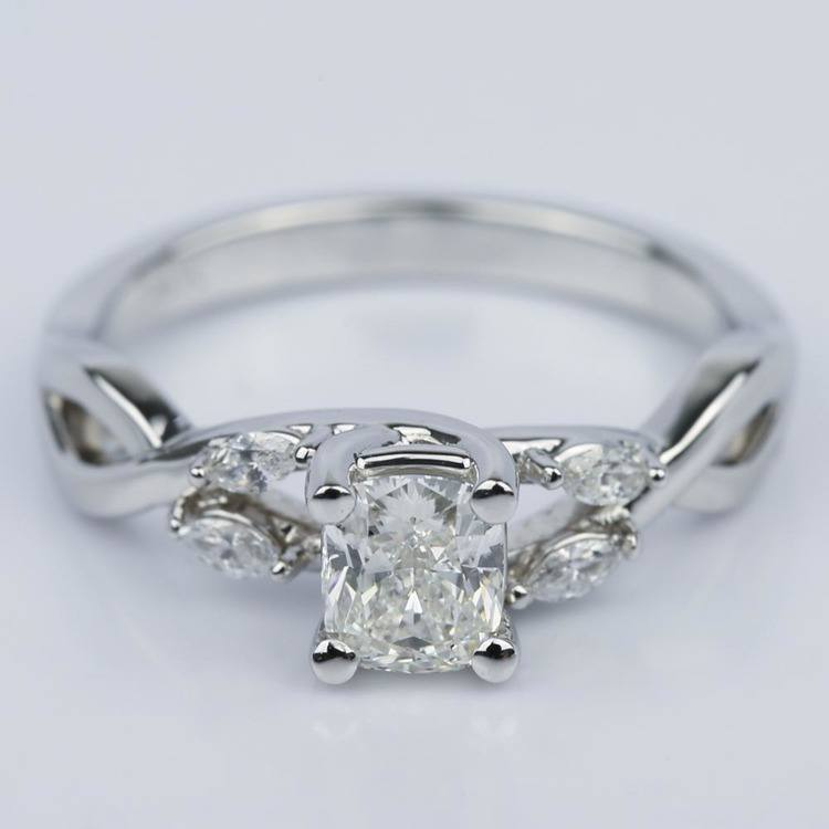 Twisted Vine Cushion Diamond Engagement Ring (0.73 ct.)