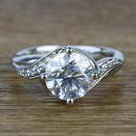 Twisted Vintage 1.90 Carat Round Loose Diamond Engagement Ring  - small