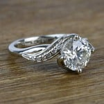 Twisted Vintage 1.90 Carat Round Loose Diamond Engagement Ring  - small angle 3