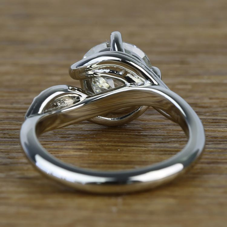 Twisted Vintage 1.90 Carat Round Loose Diamond Engagement Ring  angle 4