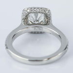 Two-Sided Halo Cushion Diamond Engagement Ring in Platinum (1.50 ct.) - small angle 4