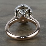 Custom Two-Tone Rose Gold Oval Diamond Engagement Ring - small angle 4