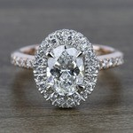 Custom Two-Tone Rose Gold Oval Diamond Engagement Ring - small