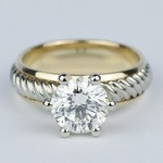 Two-Tone Twisted Rope Diamond Engagement Ring (1.80 Carat) - small